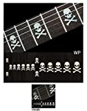 Jockomo Inlay Stickers, Fret Mark-Skull w/ Crossbones(WP)