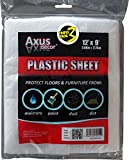 Axus Decor AXU/DSP129 Polythene Dust Sheet (Pack of 3)