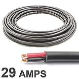 Rundes Doppelkern-Kabel, 12V, 24V, dünnes Wandkabel (29A, 2,5 mm²), 10m