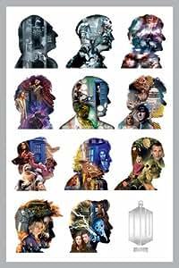 1art1 66303 Poster Doctor Who Onze Docteurs Profils 91 x 61 cm