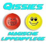 Die Qissies von pureQ I Lippenpflege und Lippenfarbe in einer Kugel I Die Smiley Kugel in 4 aufregenden Farben I 2 Kugeln (Smile & Giggle)