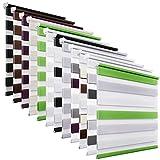 OUBO Doppelrollo Klemmfix Duo Rollo ohne Bohren - (BxH) 60 x 150 cm Grau - Seitenzugrollo mit Klemmträger für Fenster / Tür