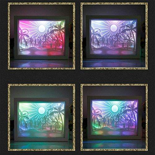 Kreative 3D Sonnenschein Muster Papier Geschnitzte Bild Beleuchtung USB Lampe Hochzeitsgeschenk Laser Geschnittene Papier Skulptur Geschenk Party Dekoration