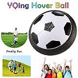 YQing Fussball Kinder Fußballtraining, Spielzeug Ball mit bunten LED Licht und Schaum Stoßstangen, Air Power Fußball Perfekte Fußball Geschenke für Drinnen & Outdoor Spiele