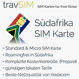 SIM Karte für Südafrika - Standard & Micro SIM mit Guthaben- 100 ZAR südafrikanische Rand Guthaben- süd-afrikanische prepaid SIM Karte