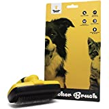 Thunderpaws Self Cleaning Pet Slicker Brush - Gently Remove Knots, Tangles and Loose