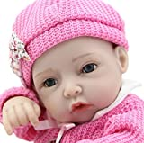 DECOR Soft Vinyl Silicone Reborn Baby Doll with Red Rose Cloths and Small