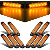 10X 6 LED Amarillo Lado LED, Foco AZ Trailer Luces, Camiones, Luces de Posición, Side Lateral Luz Posterior, Remolque Led Lámparas de Posición, RV (12V 3,77 '') (Amarillo)