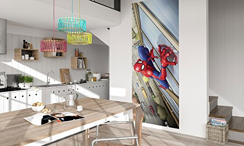 Komar - Marvel - Vlies Fototapete SPIDER-MAN CLIMBER - 100x250cm - Tapete, Wand Dekoration, Comic, Superheld - 037-DVD1