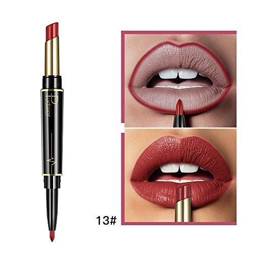 16 colors Lipgloss, Matt Nude FlüSsigkeit Lippenstifte Wasserdicht Liquid Matte Lipstick Lip Liner...