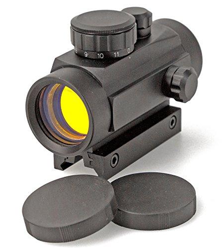 Nick and Ben Ziel-Fernrohr 1 x 40 Metall Visier Red Dot für Luftgewehr Softair oder Armbrust Montage auf 11 mm oder 22 mm Schiene