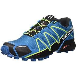 Salomon Speedcross 4 CS, Scarpe da Escursionismo Uomo, (Mykonos Bl/Hawaiian/Lime), 44 2/3 EU