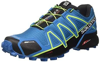 Salomon Herren Speedcross 4 Cs Kletterschuhe Mehrfarbig (Mykonos Bl/Hawaiian/Lime) 40 2/3 EU