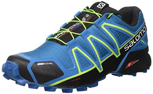 Salomon Herren Speedcross 4 CS Kletterschuhe, Mehrfarbig (Mykonos BL/Hawaiian/Lime), 42 2/3 EU (Trail-running-schuh Cs)