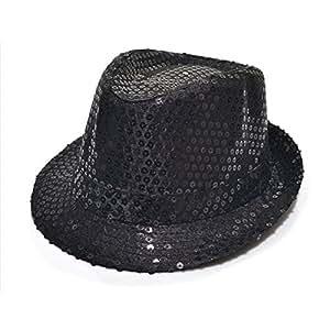 paillette chapeau panama pour les enfants(Noir)