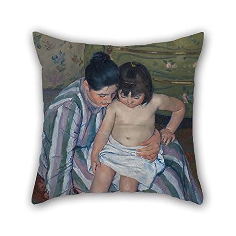 Alphadecor 50,8x 50,8cm/5050cm de peinture à l'huile Mary Cassatt–The Taie d'oreiller de bain pour enfants, Twin sides s'adapte pour garçon ami, extérieur, Mari, fils, enfants, Noël,