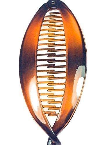 BANANA pettine per capelli a forma di pesce con tonalità marrone
