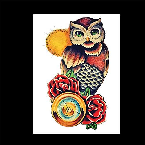 zgmtj wasserdichte Tätowierungsaufkleber des Blumenarms Halloween-Tätowierungsaufkleber HB-676 148 * 210MM