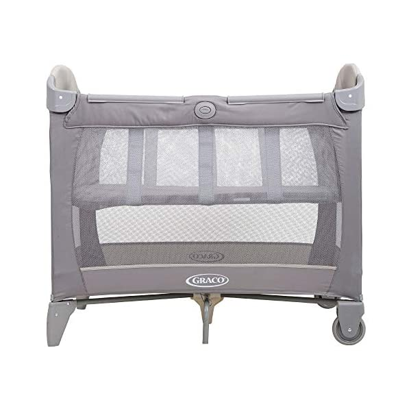 Graco Contour Bassinet Travel Cot, Paloma Graco Perfect for travel - bassinet is suitable from birth to approx. 3 months (6.5kg); bed is suitable from birth to about 3 years (15kg) Signature graco push-button fold makes closing your travel cot quick and hassle-free Includes 2 wheels for easy movement when travelling or from room to room 2