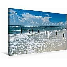 Premium Textil-Leinwand 75 cm x 50 cm quer FLORIDA Golf von Mexiko | Wandbild, Bild auf Keilrahmen, Fertigbild auf echter Leinwand, Leinwanddruck: Idyllischer Meeresblick (CALVENDO Natur)