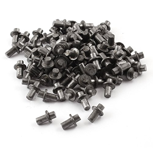 Aexit 100Stück Schrank-Zubehör Dark Gray Metall 13x 9mm Kühlschrank Scharniere Scharnier Pin