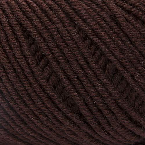 ggh Maxima - 005 - Schokolade - 100% Merinowolle - mulesing Free - 50g Knäuel - 110m - Nadel Größe 4-5, Light - Stricken, häkeln