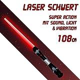 108 cm Laserschwert Lichtschwert Action mit Sound Licht in rot Vibration