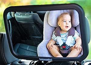 Herzenskind Rücksitzspiegel Für Babys Extra Großer Babyspiegel 30cmx19cm Mit Edlem Soft Touch Finish Bruchsicher Und Kinderleicht Zu Montieren Baby