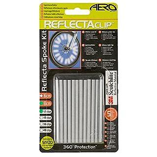 Aero Sport Speichenreflektoren ReflectaClip, 3M Scotchlite, gemäß BS 6102/3, TÜV-geprüft, konform mit StVZO, sehr guter Halt, 8 cm, 12 Stück
