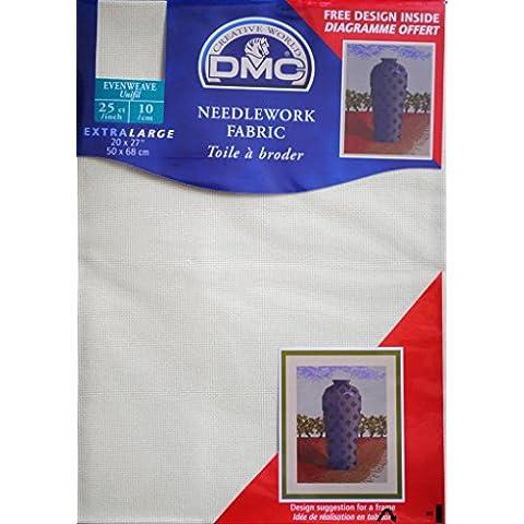 DMC cucito tessuto tela oro/25pollici, 10/cm ecrù–50,8x