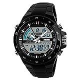 Montre de Sport pour Homme, Cadran numérique Date et chronographe analogique...
