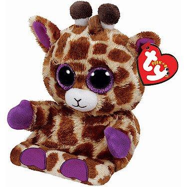 Ty - TY00007 Jesse - Giraffe, 15cm, with Glitzeraugen, Peek-A-Boos, Smartphonehalter (Boo Kostüme Für Erwachsene)