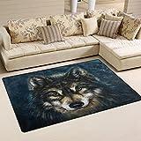 coosun Wolf Art Gemälde Bereich Teppich Teppich rutschfeste Fußmatte Fußmatten für Wohnzimmer Schlafzimmer 152,4x 99,1cm, Textil, multi, 60 x 39 inch