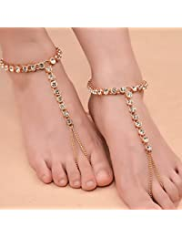 Anklets Search For Flights Boho Ankle Bracelet Silver Layer Star Mermaid Beaded Adjustable Beach Anklet Ad Fashion Jewelry