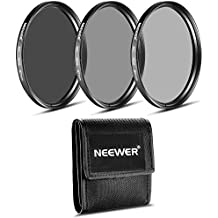 Neewer Kit de 67 MM filtro ND (ND2 ND4 ND8) para NIKON 18-55 mm f/3.5-5.6G ED AF-S DX, 55-200 mm f/4-5.6G ED IF AF-S DX VR, lente de CANON EF-M18 - 55 mm es STM, PENTAX 18-55 mm F3.5-5.6AL de lente