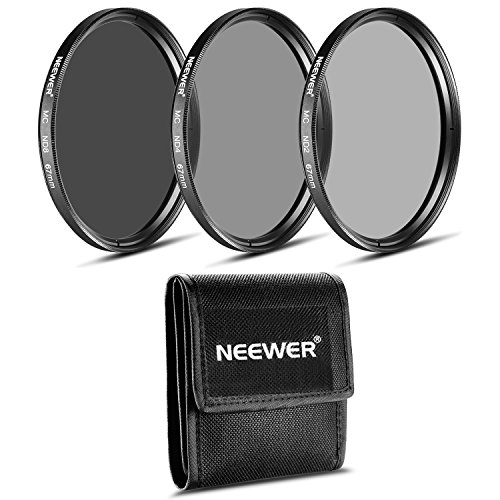 Neewer® 67MM ND-Filter-Set (ND2 ND4 ND8) für CANON 18-135mm EF-S IS STM-Objektiv, NIKON 18-105mm f / 3.5-5.6 AF-S DX VR ED-Objektiv, PENTAX 18-135mm f / 3.5 -5,6 ED AL (IF) DC WR Objektiv