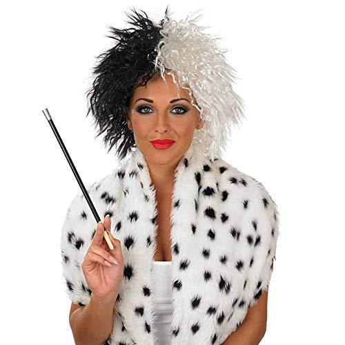 Fun Shack Damen Costume Kostüm, Dalmatian Villain Wig, Einheitsgröße