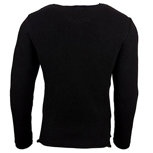 Herren Pullover RN13249 Grobstrick Strick Strickjacke Pulli Sweatshirt Sweat Neu Beige