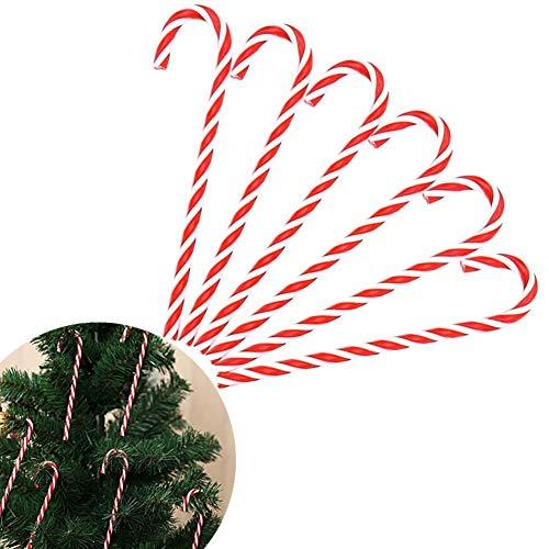 Milopon 6X Zuckerstange Weihnachten Krücke Anhänger Weihnachtsbaum Party Ornament Dekor
