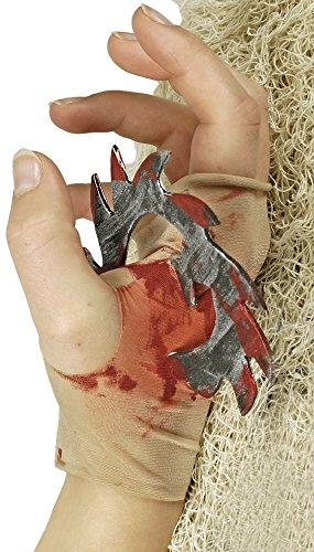 Armstrumpf mit blutiger Kreissäge - Fake Verletzung zu Halloween