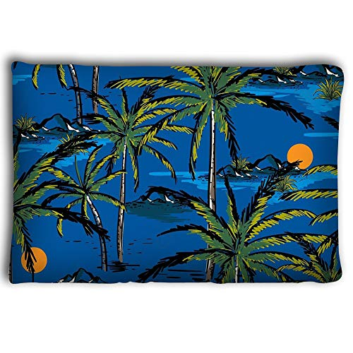 ce100ece3 Zhangshpoing Pillow Cases Digital Painting Summer Beach Landscape Egypt  Palm Trees Umbrella Sea Vector Illustration 20 * 30inch