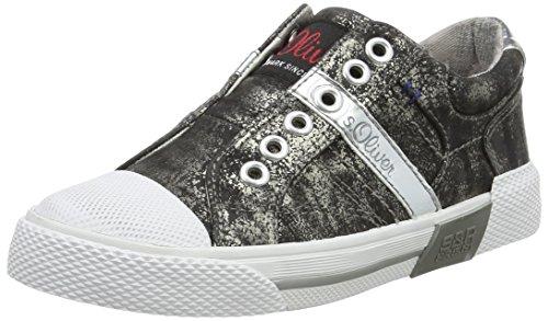 s.Oliver 44104, Sneakers Basses Garçon Noir (Black/Silver 41)