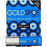 Gold Spot Fresh Breath Spray, Mint Blast   Discreetly Sized Breath Freshening Spray   Instant Freshness