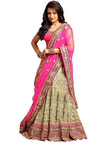 Granthi Creation Women\'s Fashion Georgette and Net Lehenga Choli (2112_Multi-Coloured)