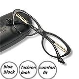#10: Computer Reading Glasses 0.75 Blue Light Blocking Office Gaming Screen Digital Reader Cateye Womens Protect Eyes Anti Glare Eye Strain Comfortable Fit Black