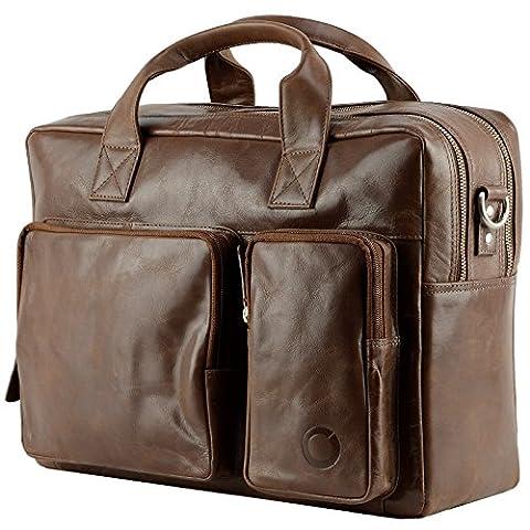Cuir véritable Messenger bag sac bandoulière cartable Besaces Pochette Sac