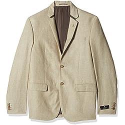 Van Heusen Men's Slim Fit Blazer (8907445859816_VHBZ316M04958_96/38_Beige)