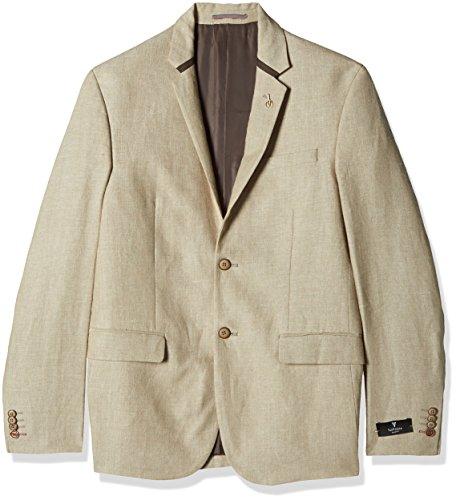 Van Heusen Men's Slim Fit Blazer (8907445859823_VHBZ316M04958_104/42_Beige)  available at amazon for Rs.4798