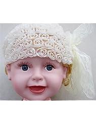Lindo bebé niña diademas con tocado de pelo gasa encaje arco princesa (3 piezas)