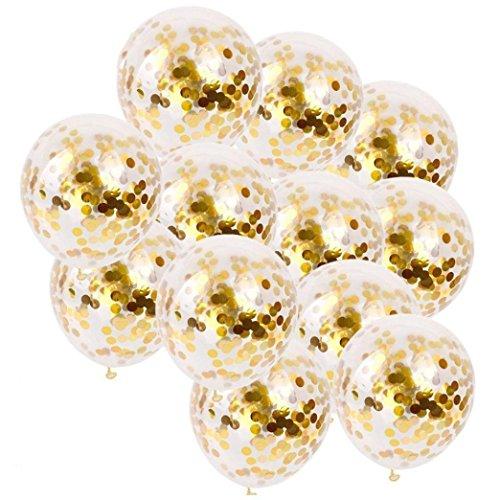 Sensail 20 PCS Ballon Gonflable, Ballons de Confettis Pour Décoration de Fête et Mariage